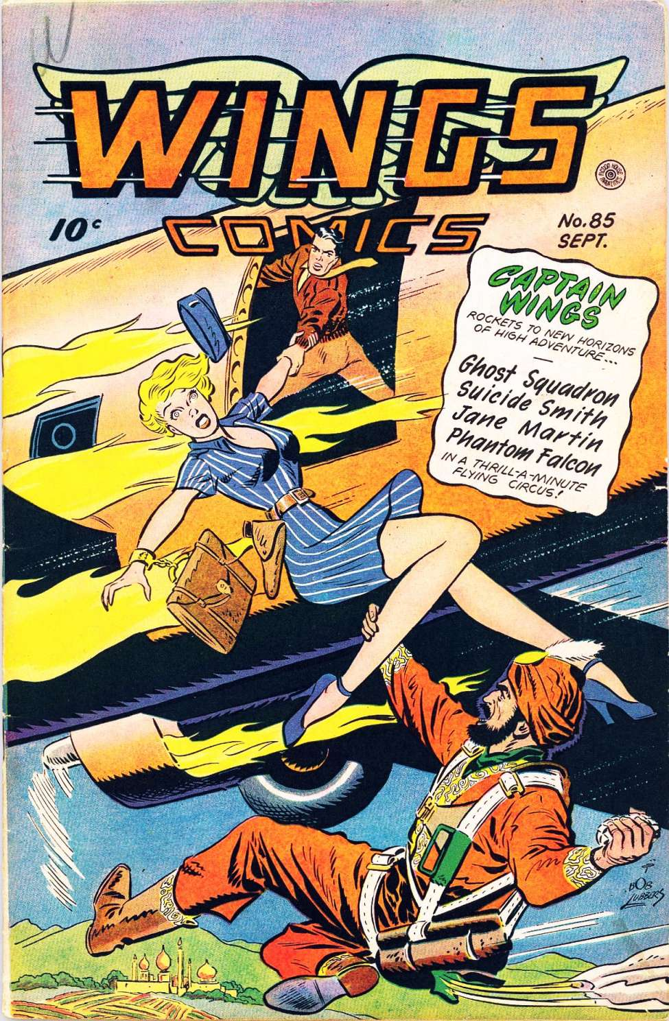 Comic Book Cover For Wings Comics #85