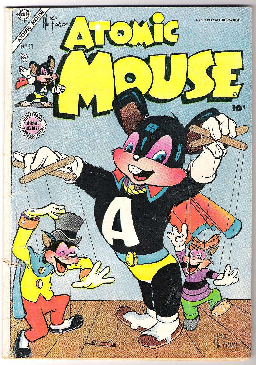 Comic Book Cover For Atomic Mouse #11