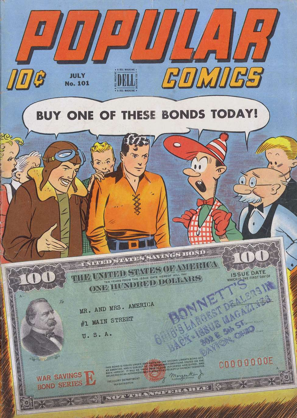 Comic Book Cover For Popular Comics #101
