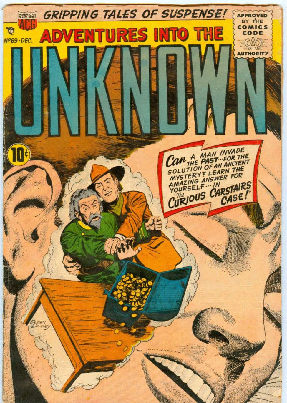 Comic Book Cover For Adventures into the Unknown #69