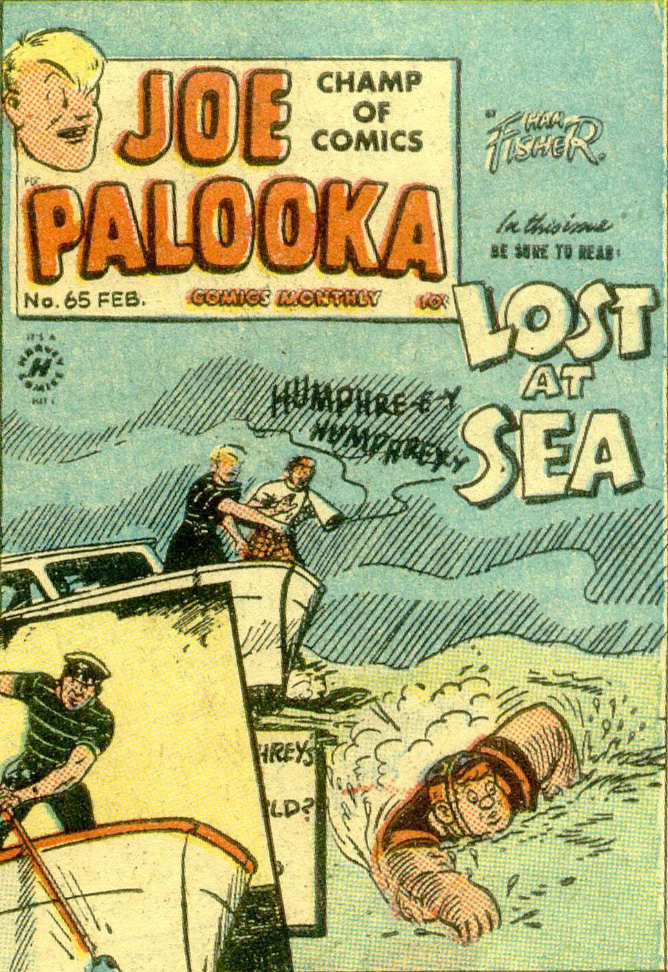 Comic Book Cover For Joe Palooka Comics #65