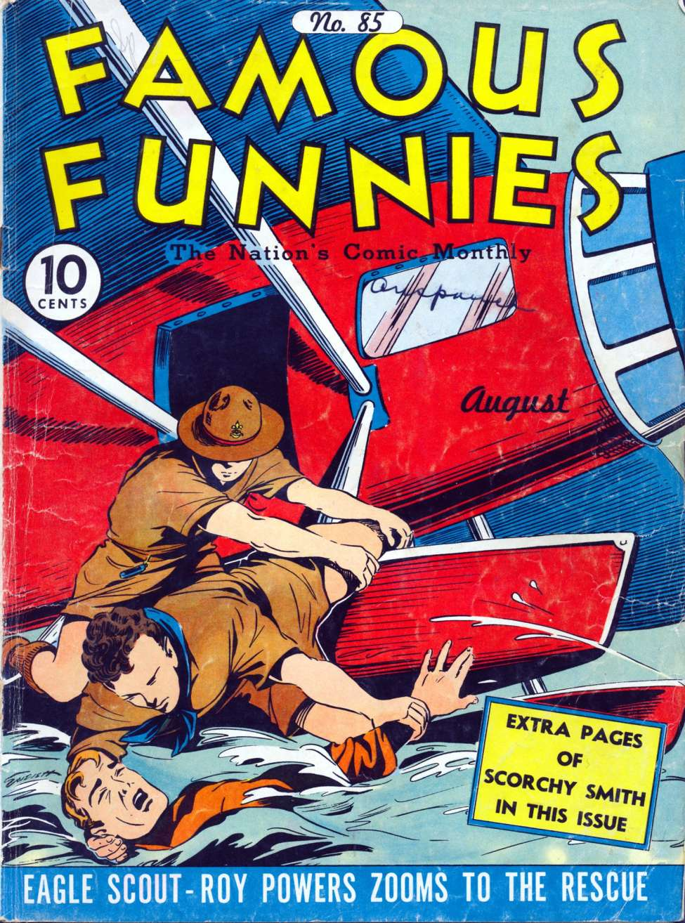 Comic Book Cover For Famous Funnies #85 - Version 2