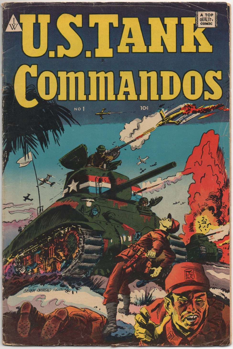 Comic Book Cover For U.S. Tank Commandos 1