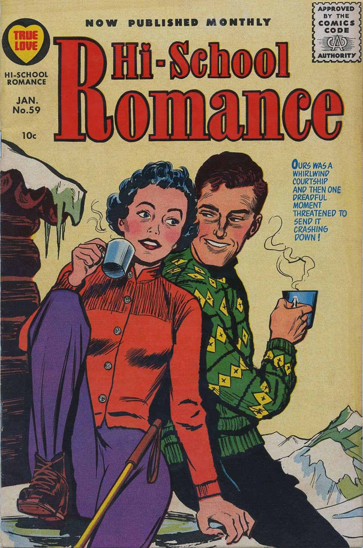 Comic Book Cover For Hi-School Romance 59