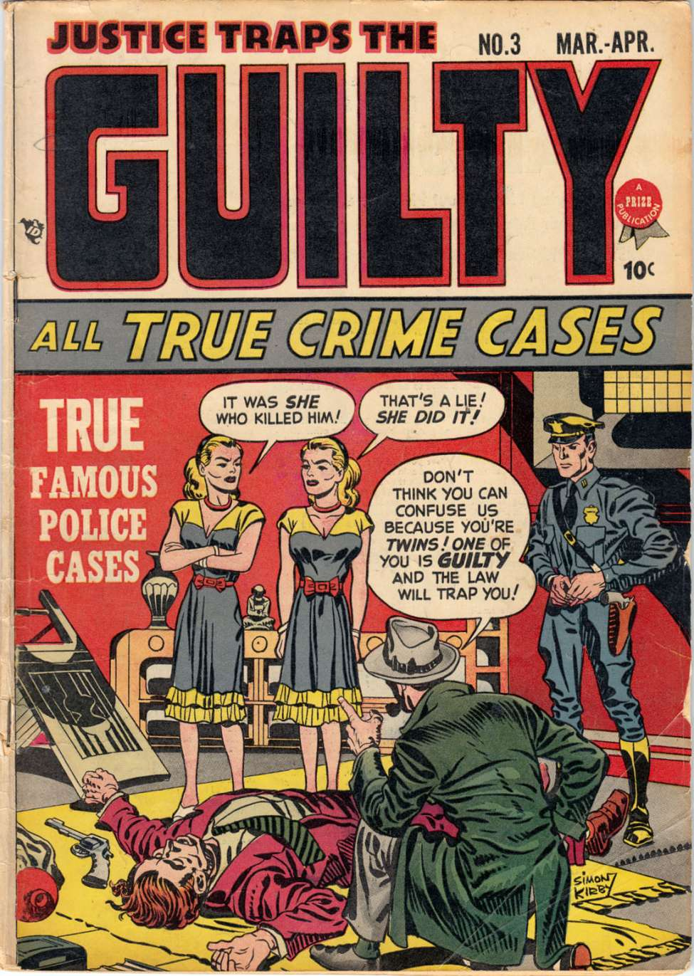 Comic Book Cover For Justice Traps the Guilty v1 3 (3)