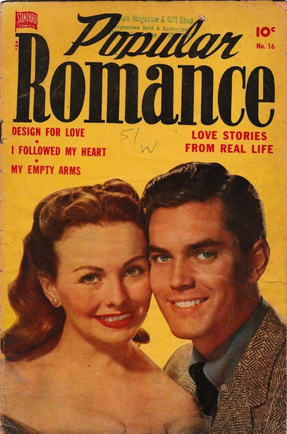 Comic Book Cover For Popular Romance #16 - Version 1