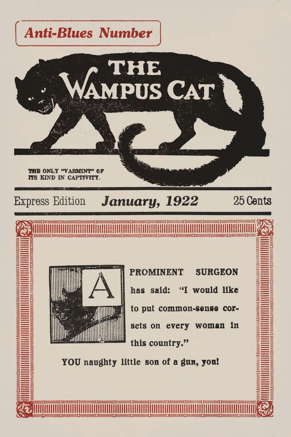 Comic Book Cover For The Wampus Cat v02 03