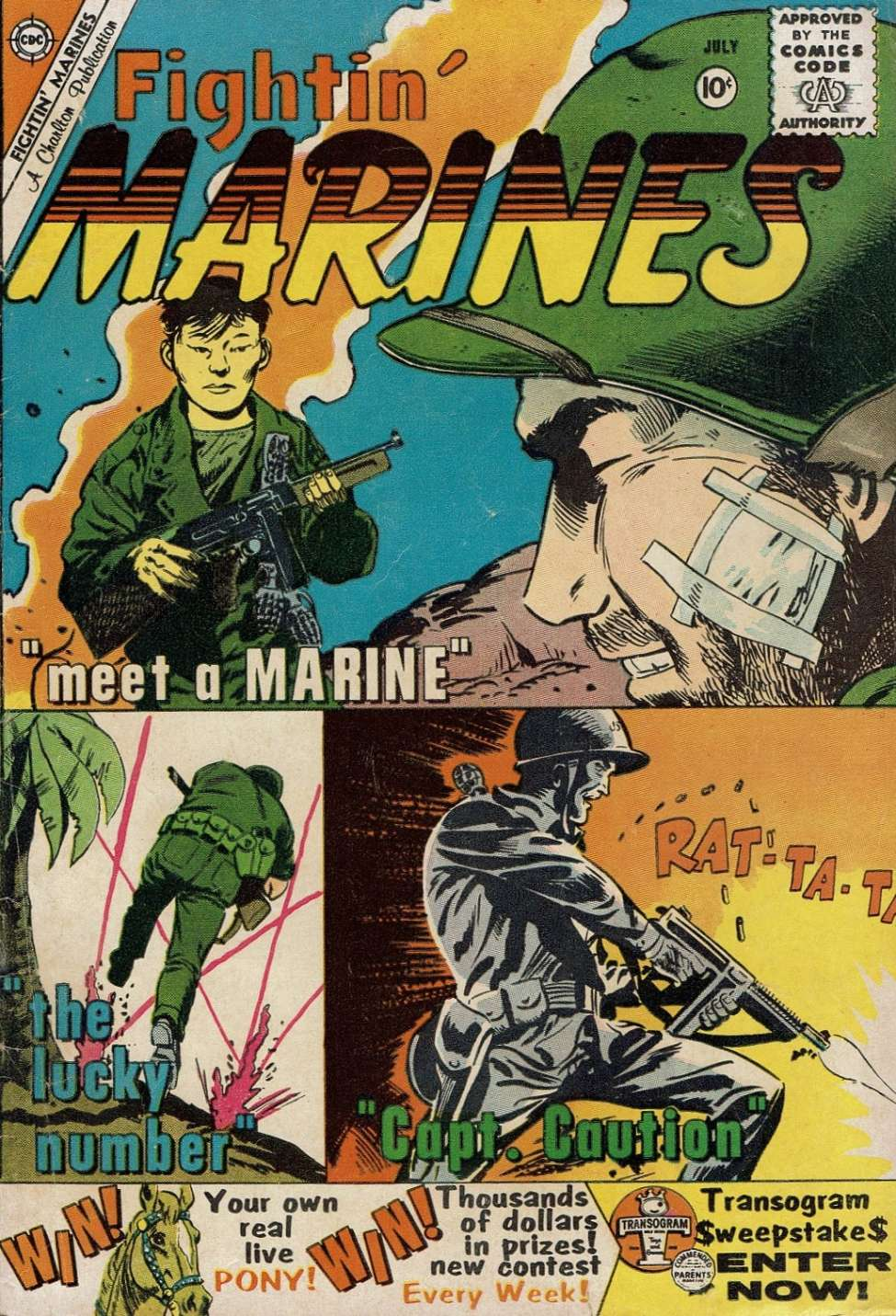 Comic Book Cover For Fightin' Marines #36