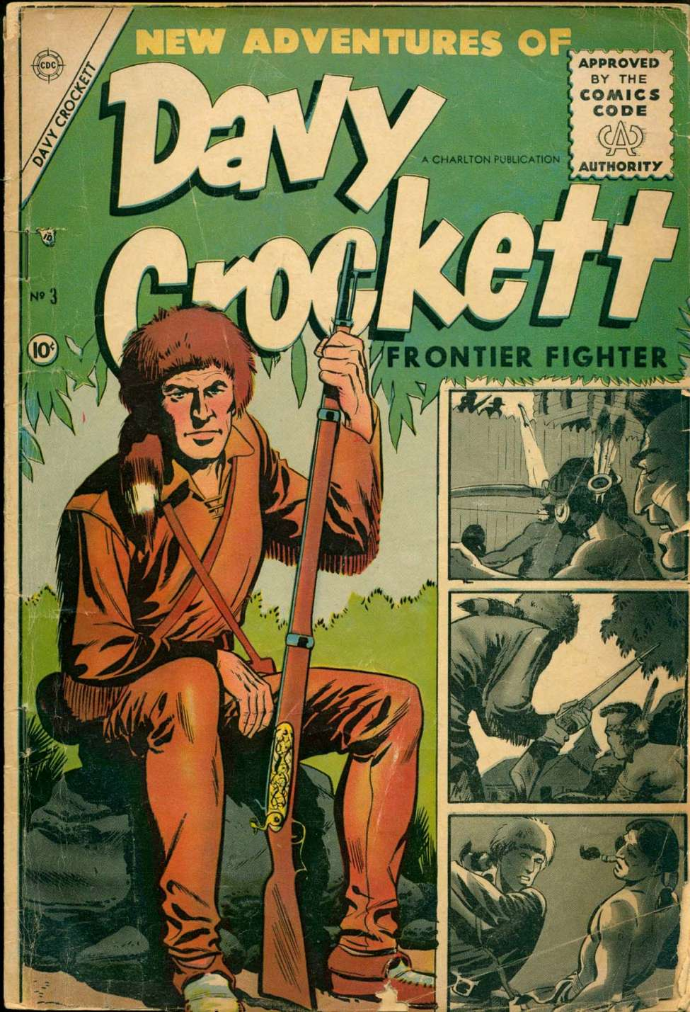 Comic Book Cover For Davy Crockett #3