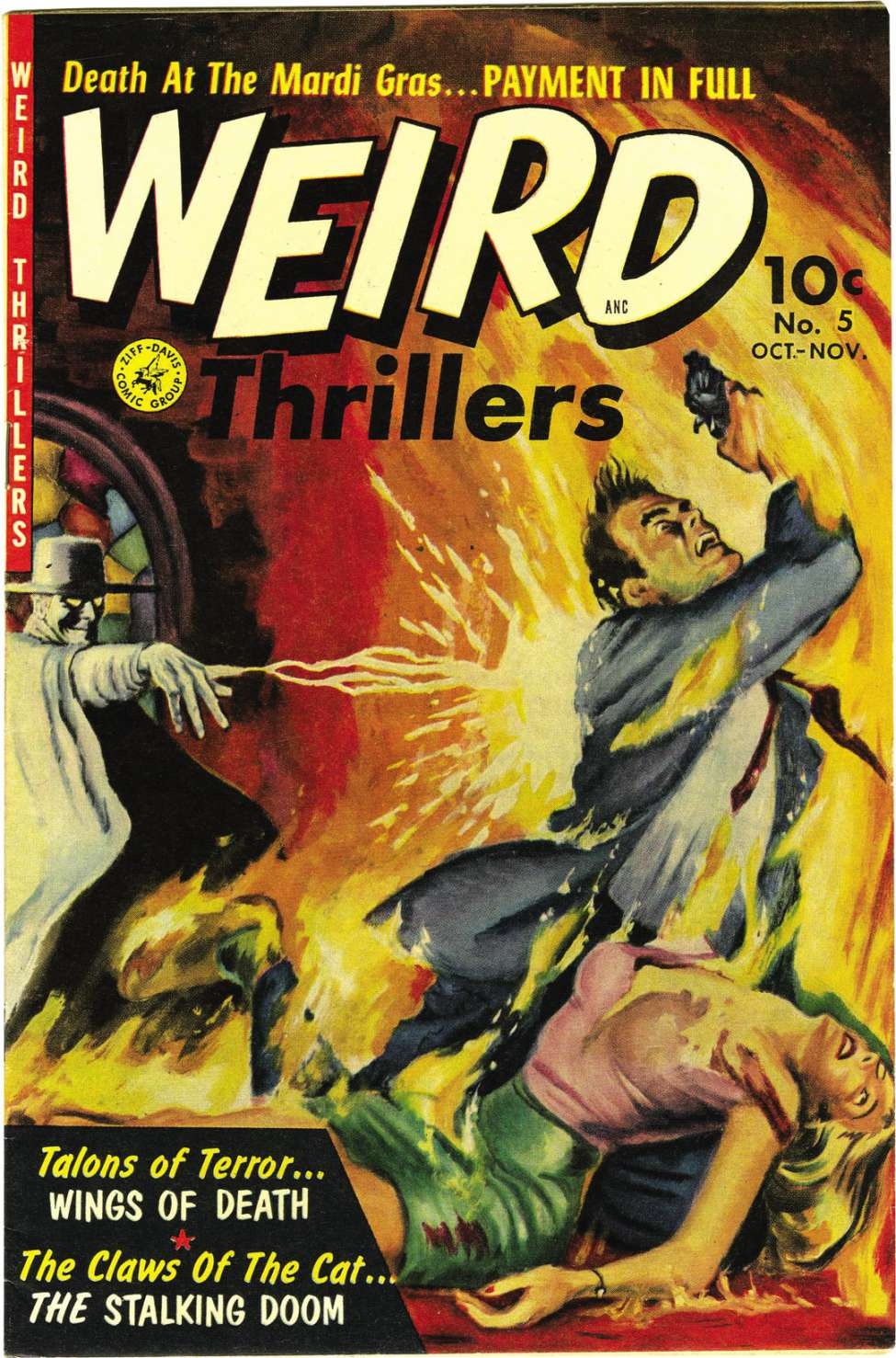 Comic Book Cover For Weird Thrillers #5