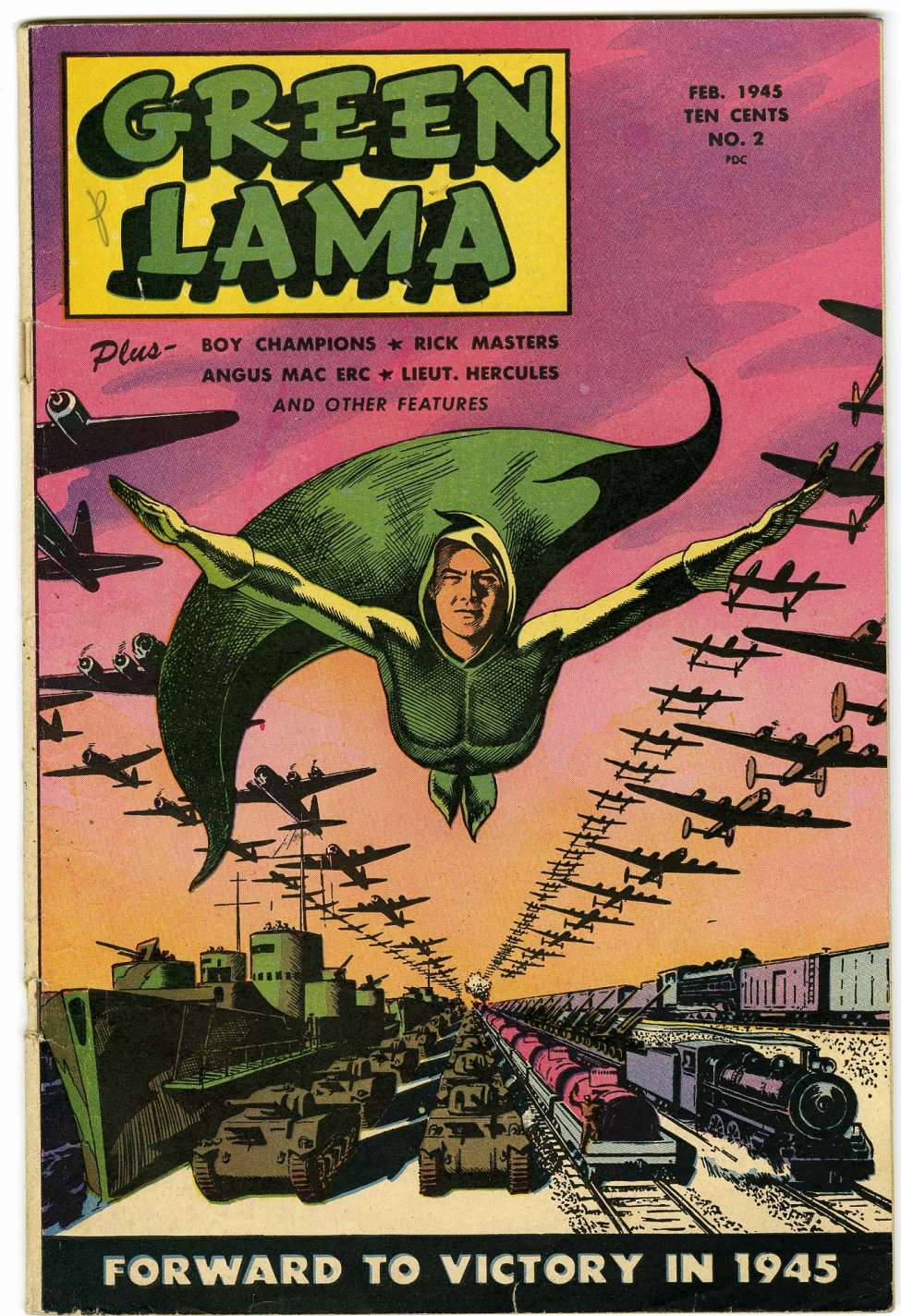 Comic Book Cover For Green Lama #2