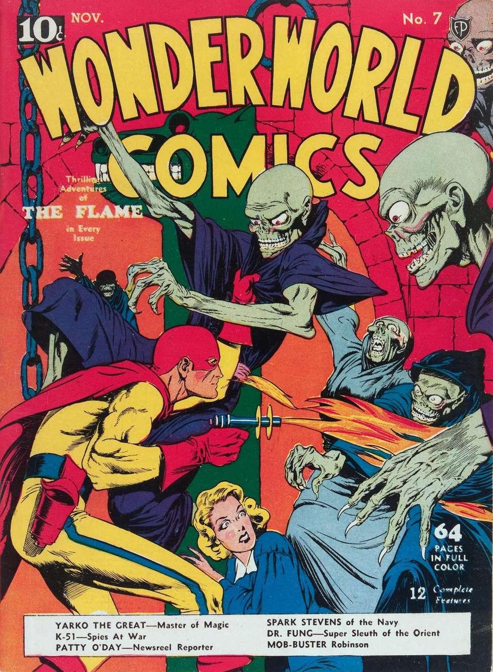 Comic Book Cover For Wonderworld Comics #7