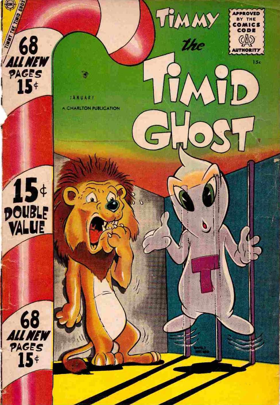 Comic Book Cover For Timmy the Timid Ghost #10