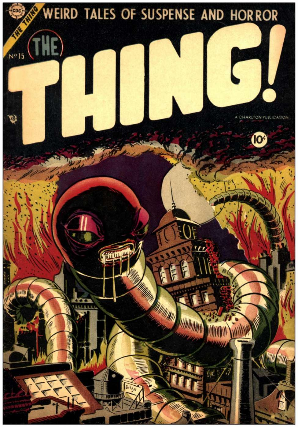 Comic Book Cover For The Thing #15