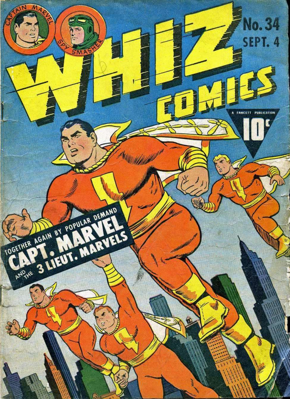 Comic Book Cover For Capt. Marvel Whiz Archives Vol 08