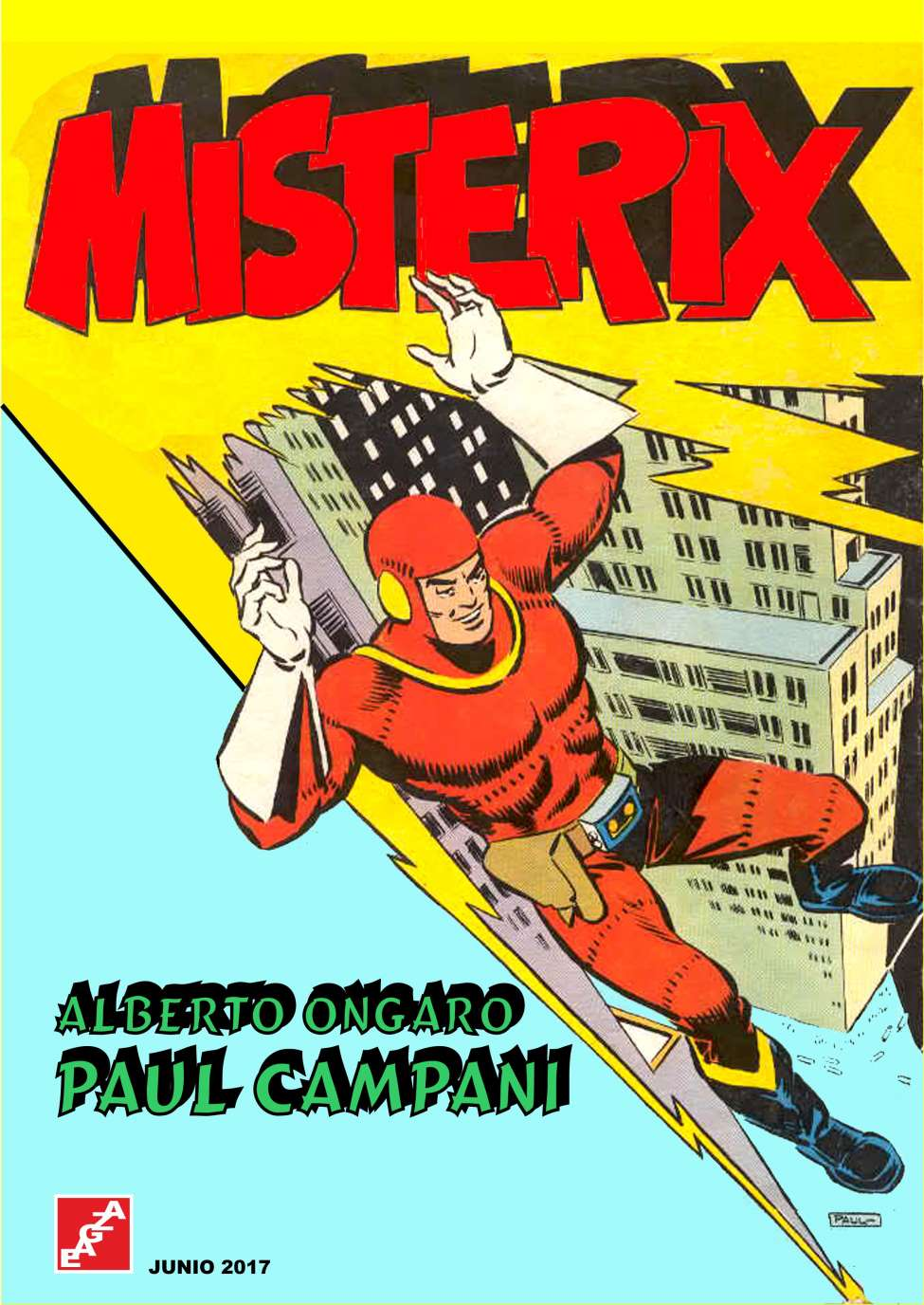Comic Book Cover For Misterix - A. Ongaro - P. Campani - EAGZA
