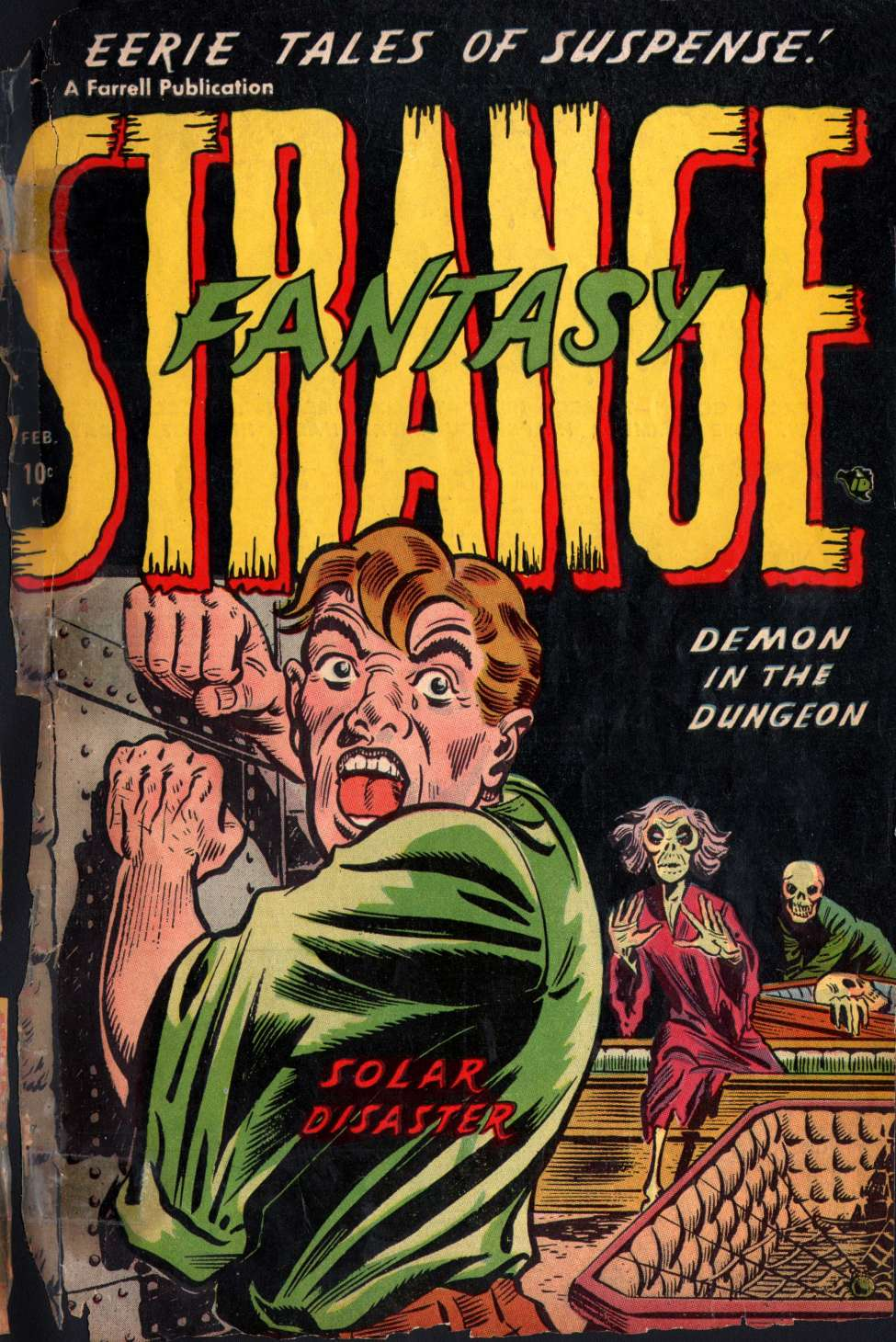 Comic Book Cover For Strange Fantasy #4