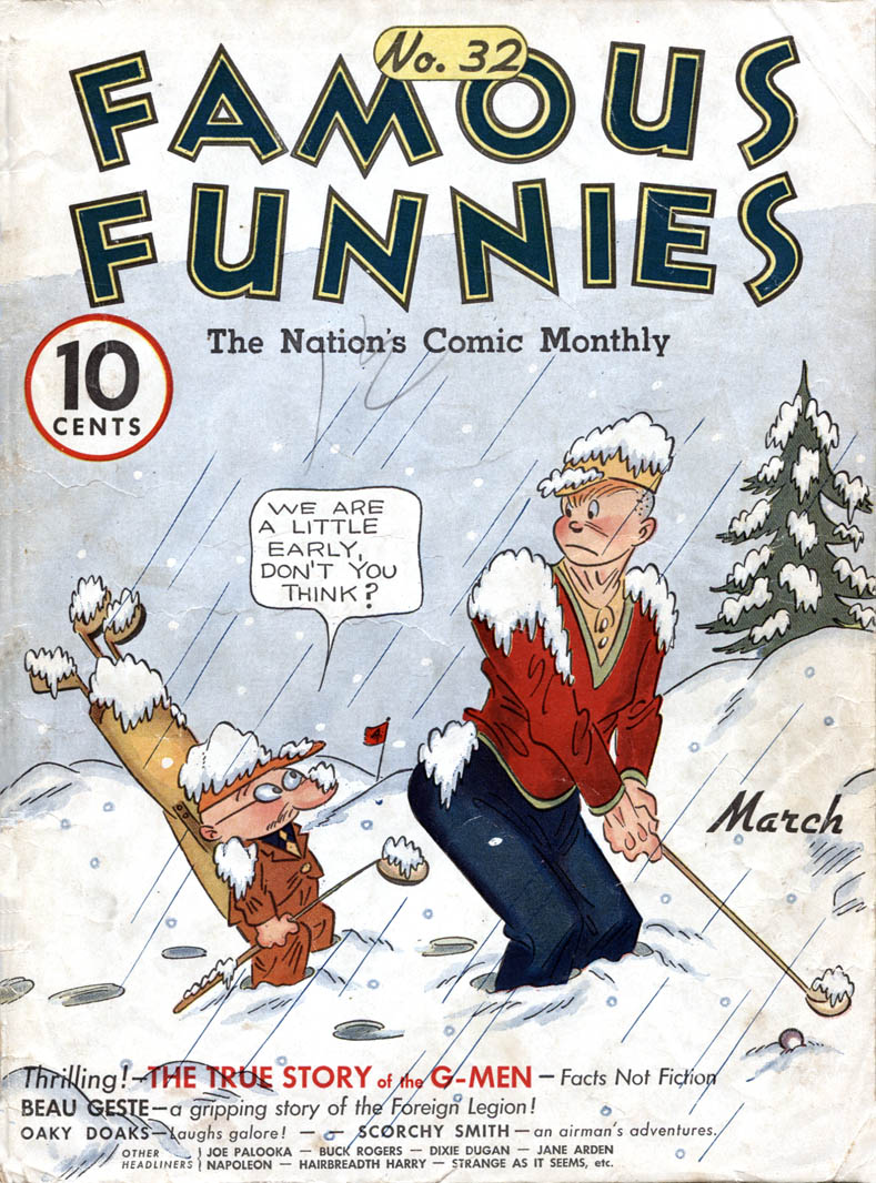 Comic Book Cover For Famous Funnies #32