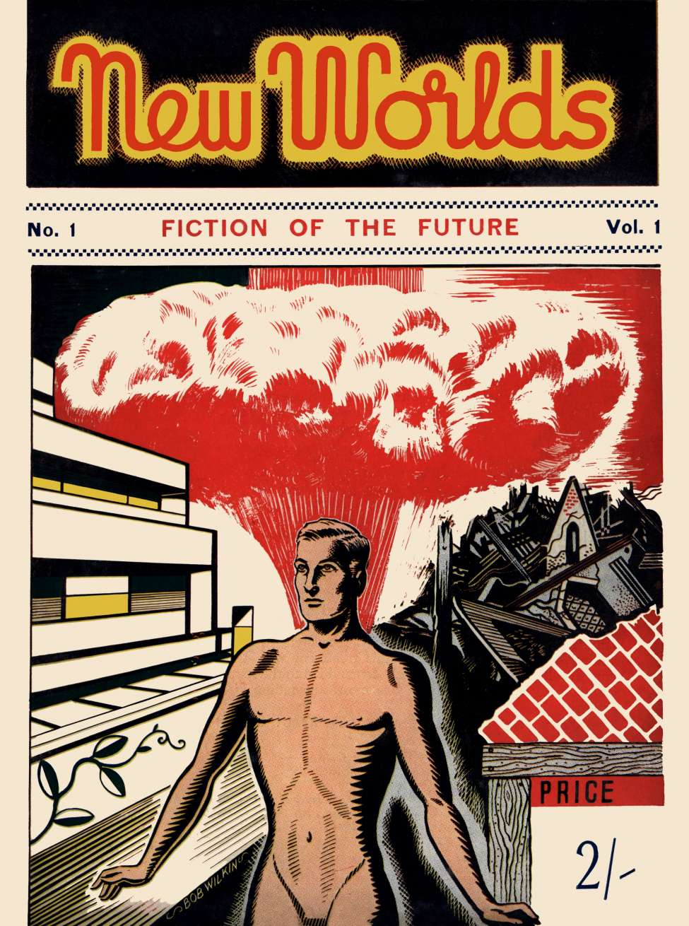 Comic Book Cover For New Worlds v01 001 - The Mill of the Gods - Maurice G. Hugi