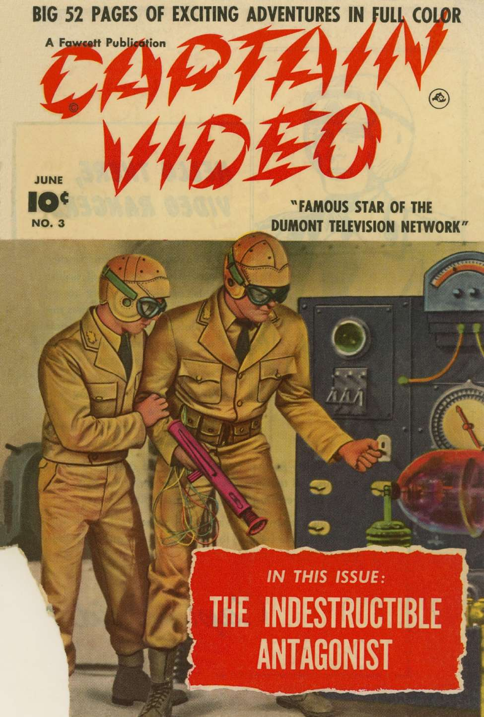 Comic Book Cover For Captain Video #3