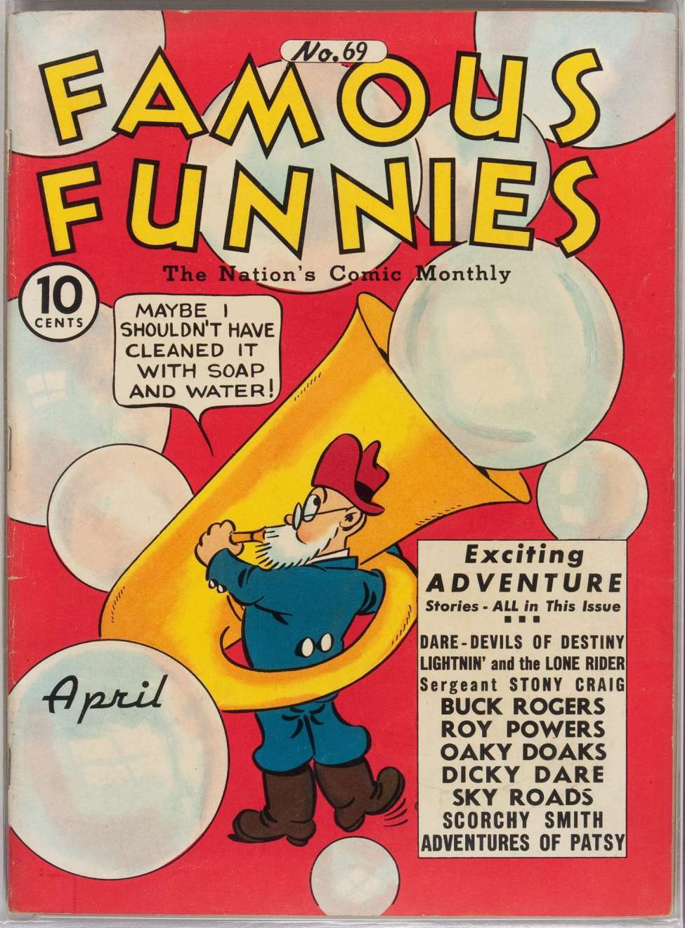 Comic Book Cover For Famous Funnies #69