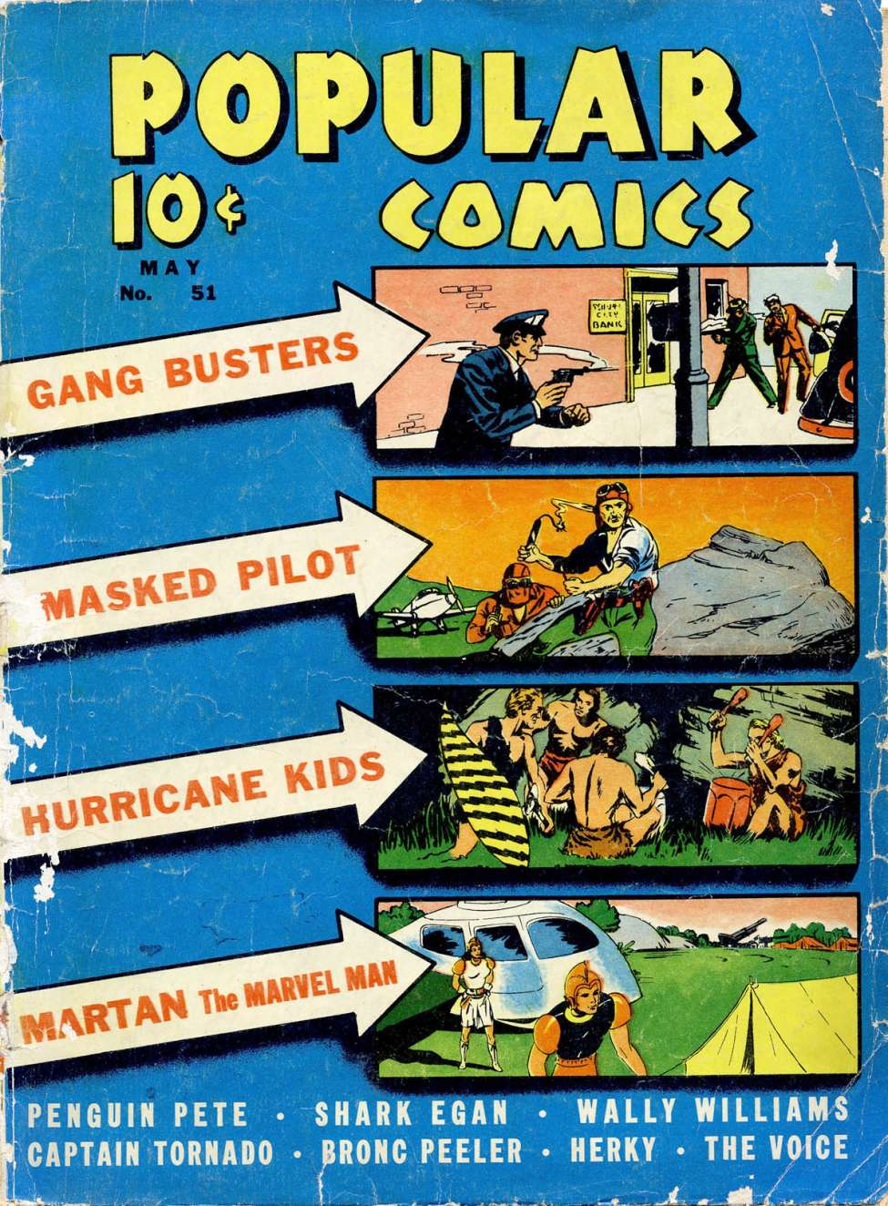 Comic Book Cover For Popular Comics #51