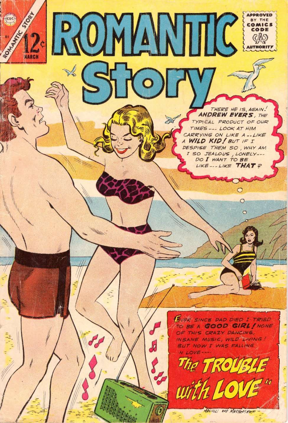 Comic Book Cover For Romantic Story #81