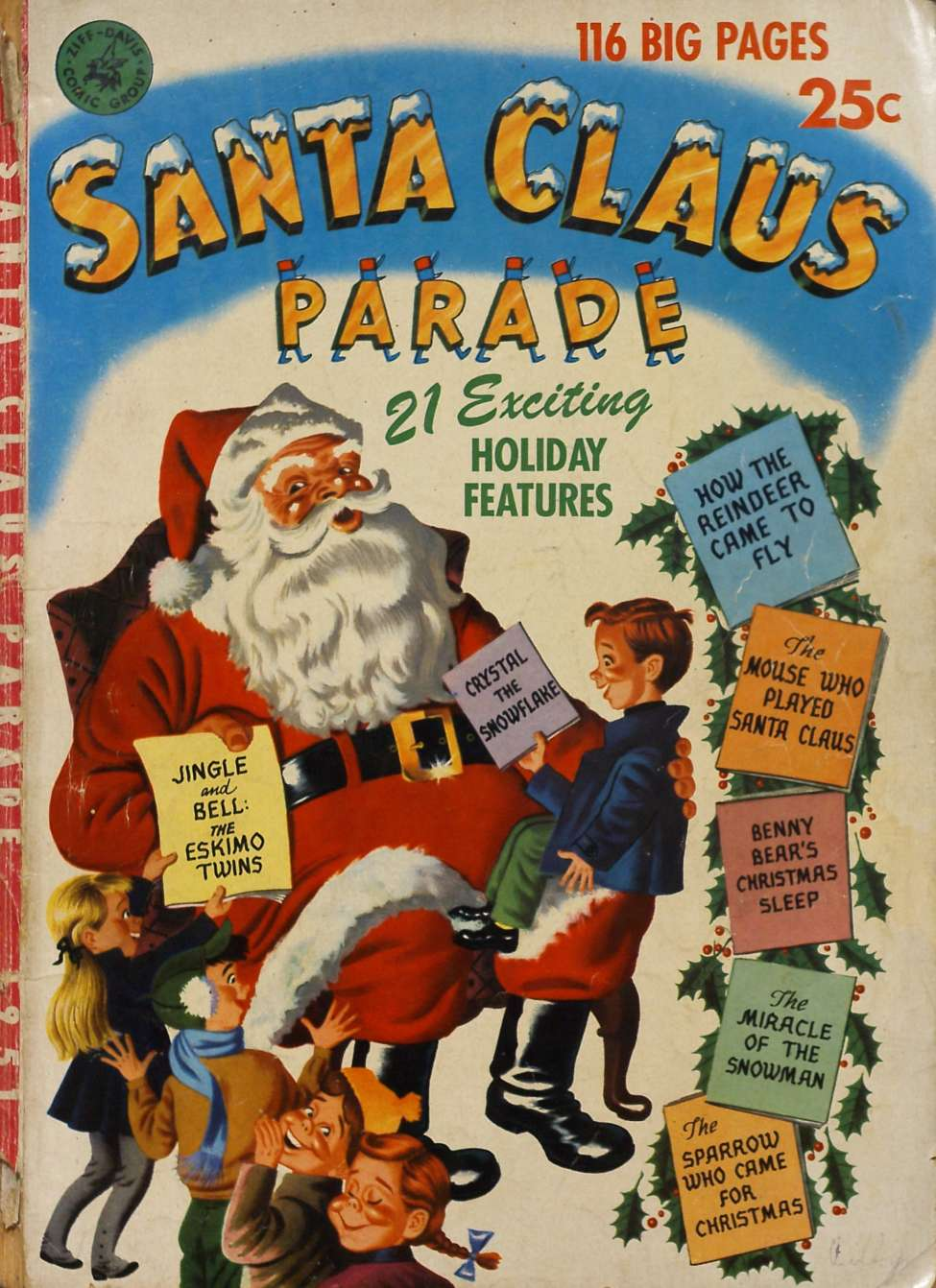 Comic Book Cover For Santa Clause Parade
