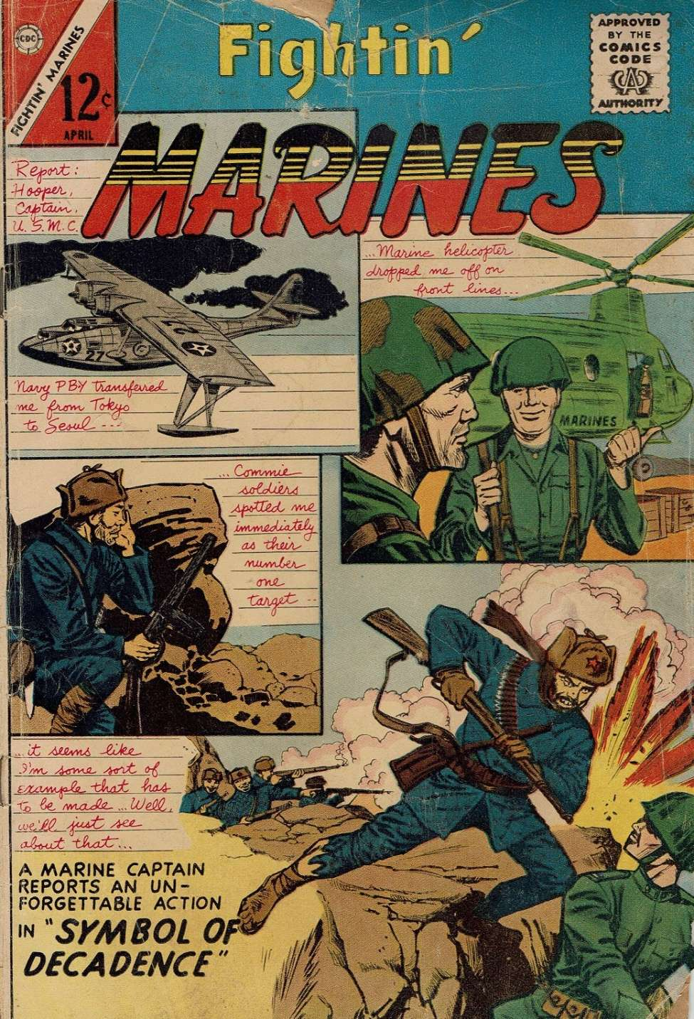 Comic Book Cover For Fightin' Marines #52