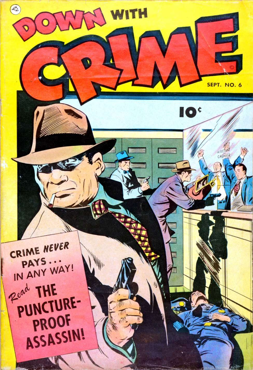 Comic Book Cover For Down with Crime #6