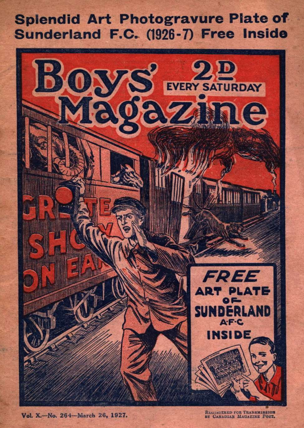 Comic Book Cover For Boys' Magazine 264