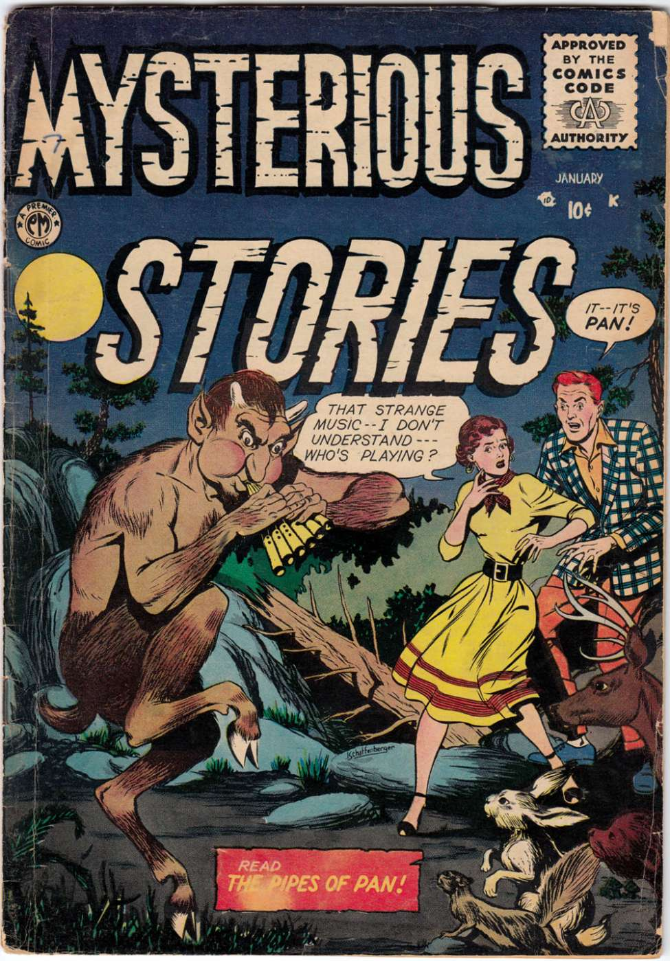 Comic Book Cover For Mysterious Stories #7