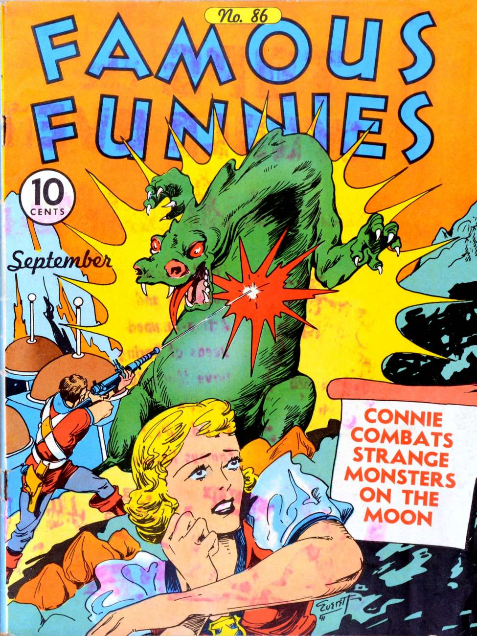 Comic Book Cover For Famous Funnies #86