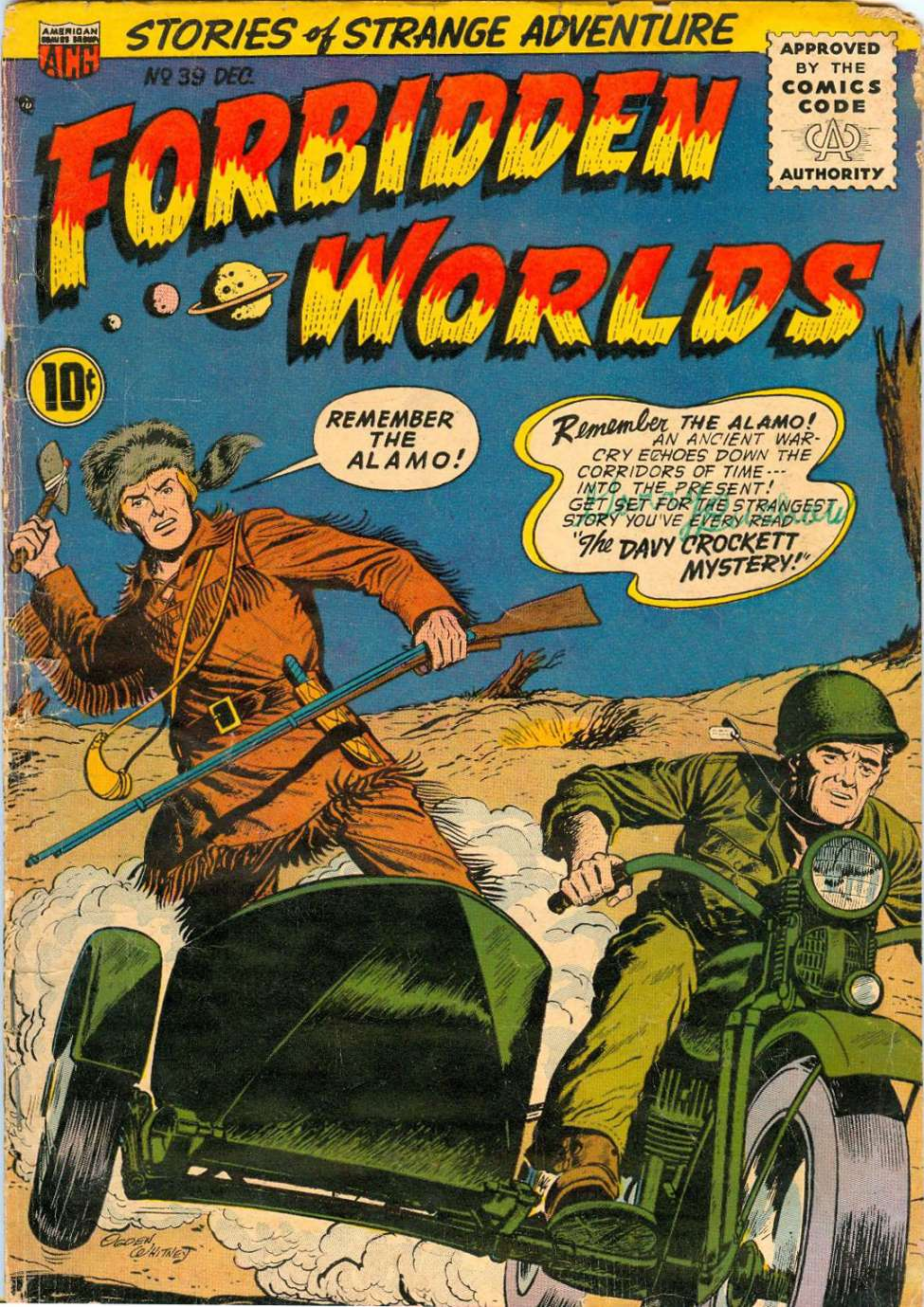 Comic Book Cover For Forbidden Worlds #39