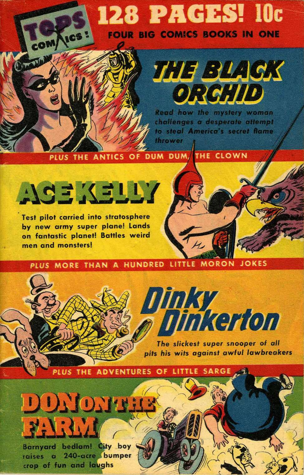 Comic Book Cover For Black Orchid Archive (Consolidated 1944)