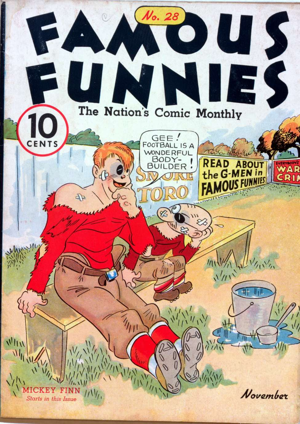 Comic Book Cover For Famous Funnies #28