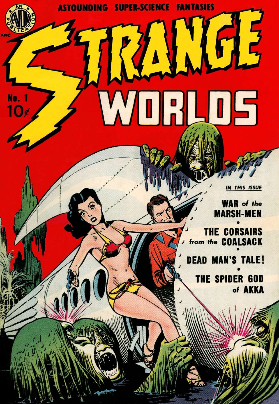 Comic Book Cover For Strange Worlds #1
