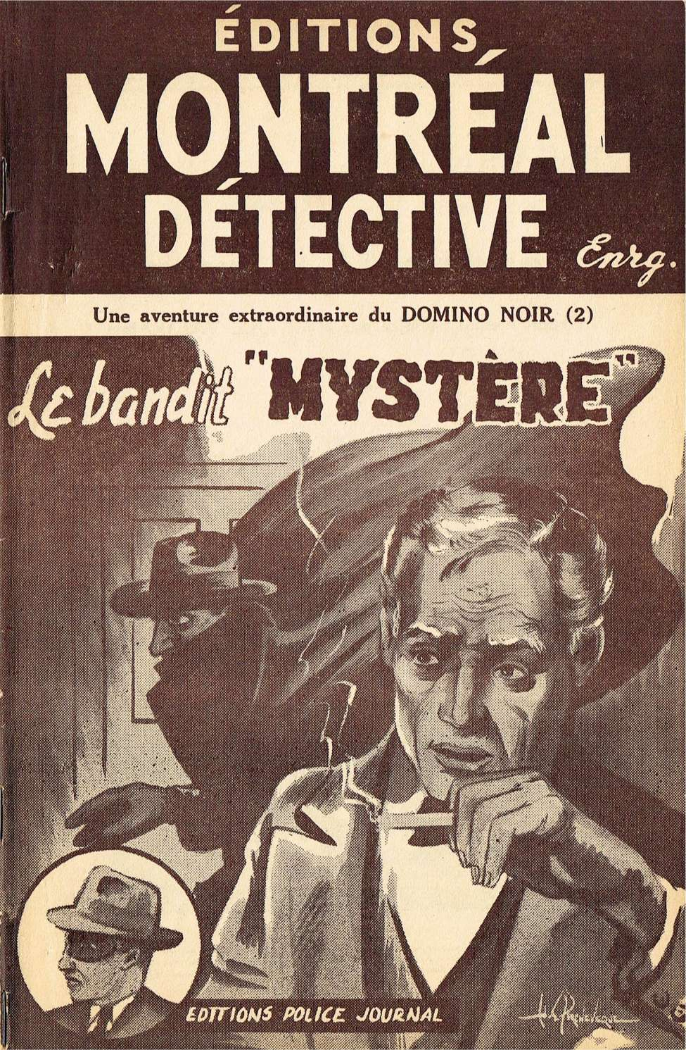 "Comic Book Cover For Domino Noir v2 02 - Le Bandit ""Mystere"""