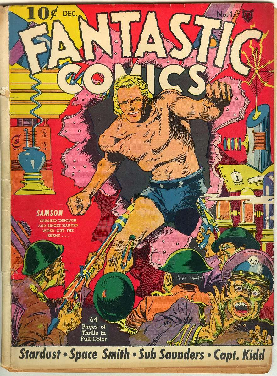 Comic Book Cover For Fantastic Comics #1