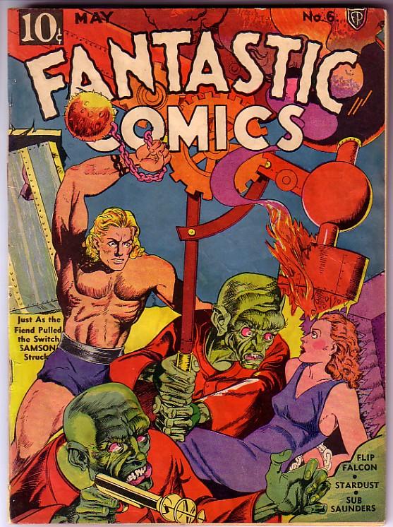 Comic Book Cover For Fantastic Comics #6