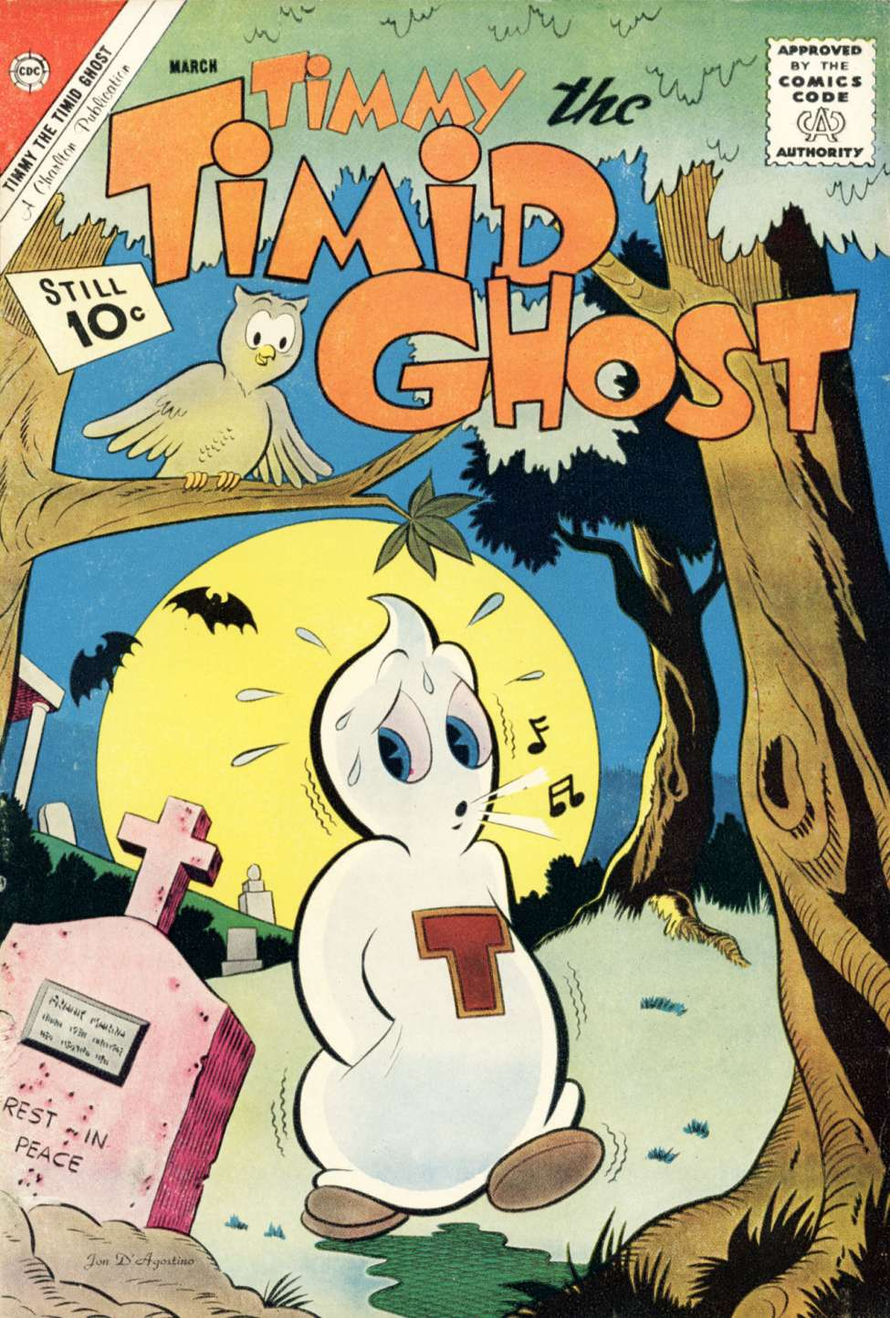 Comic Book Cover For Timmy the Timid Ghost #31