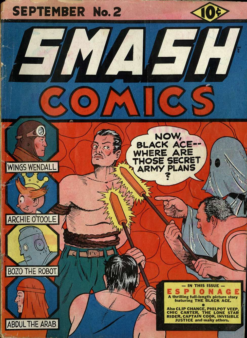 Comic Book Cover For Smash Comics #2