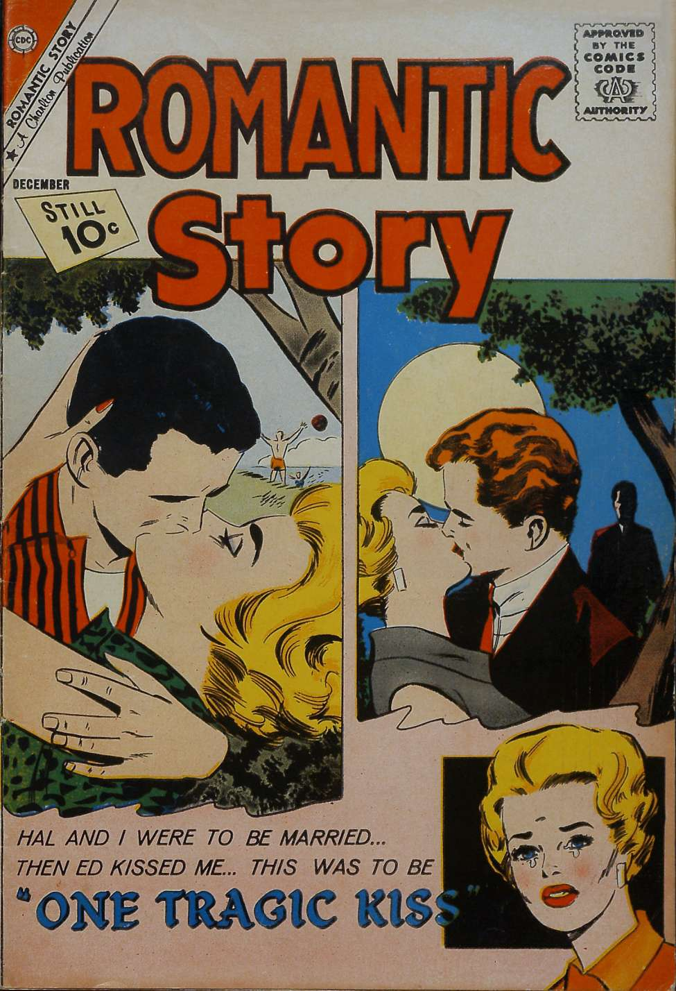 Comic Book Cover For Romantic Story #58