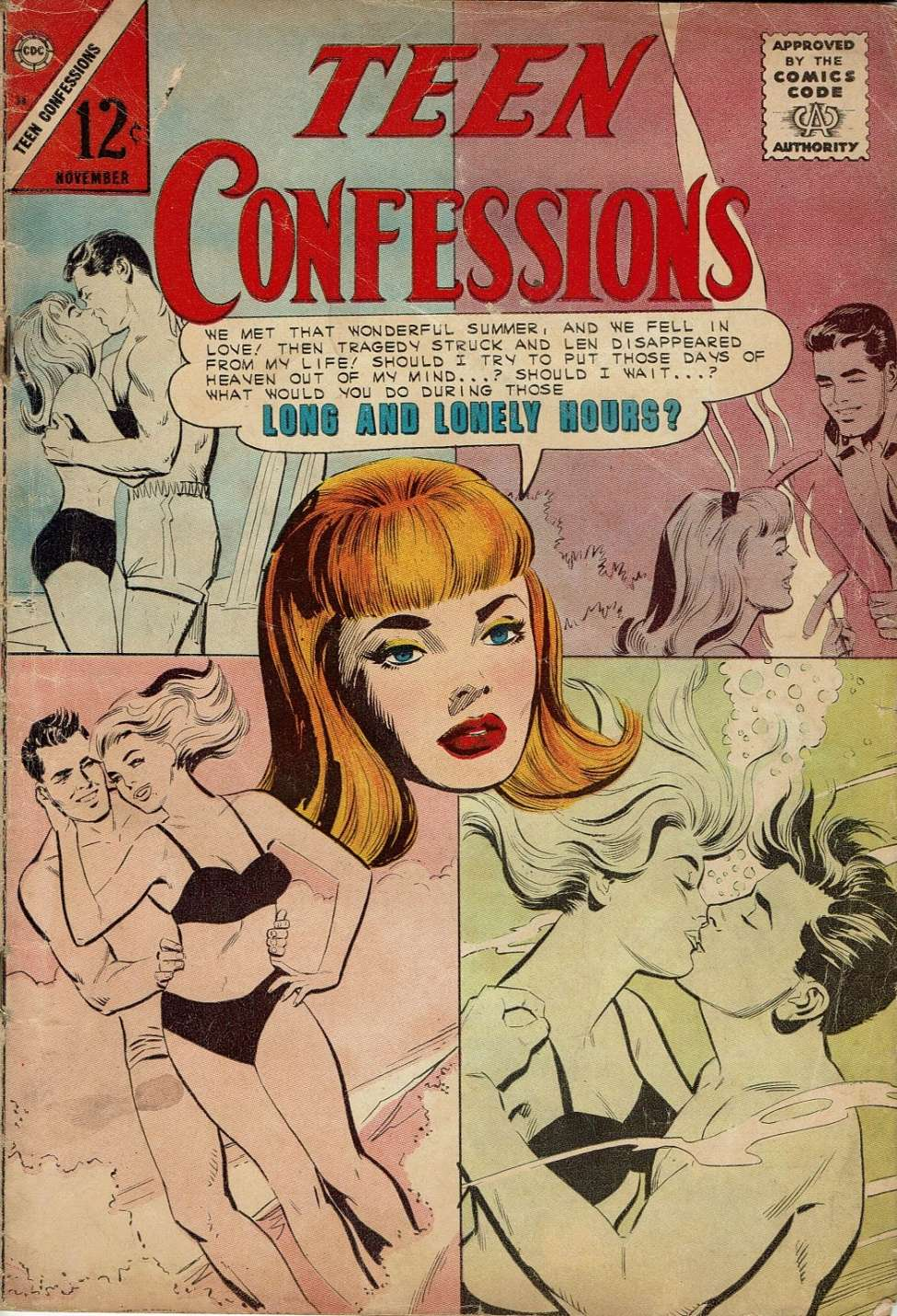 Comic Book Cover For Teen Confessions #36