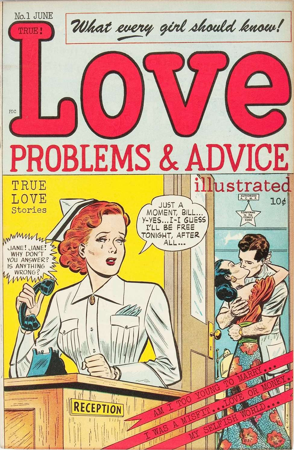 Comic Book Cover For Love Problems and Advice, Illustrated #1