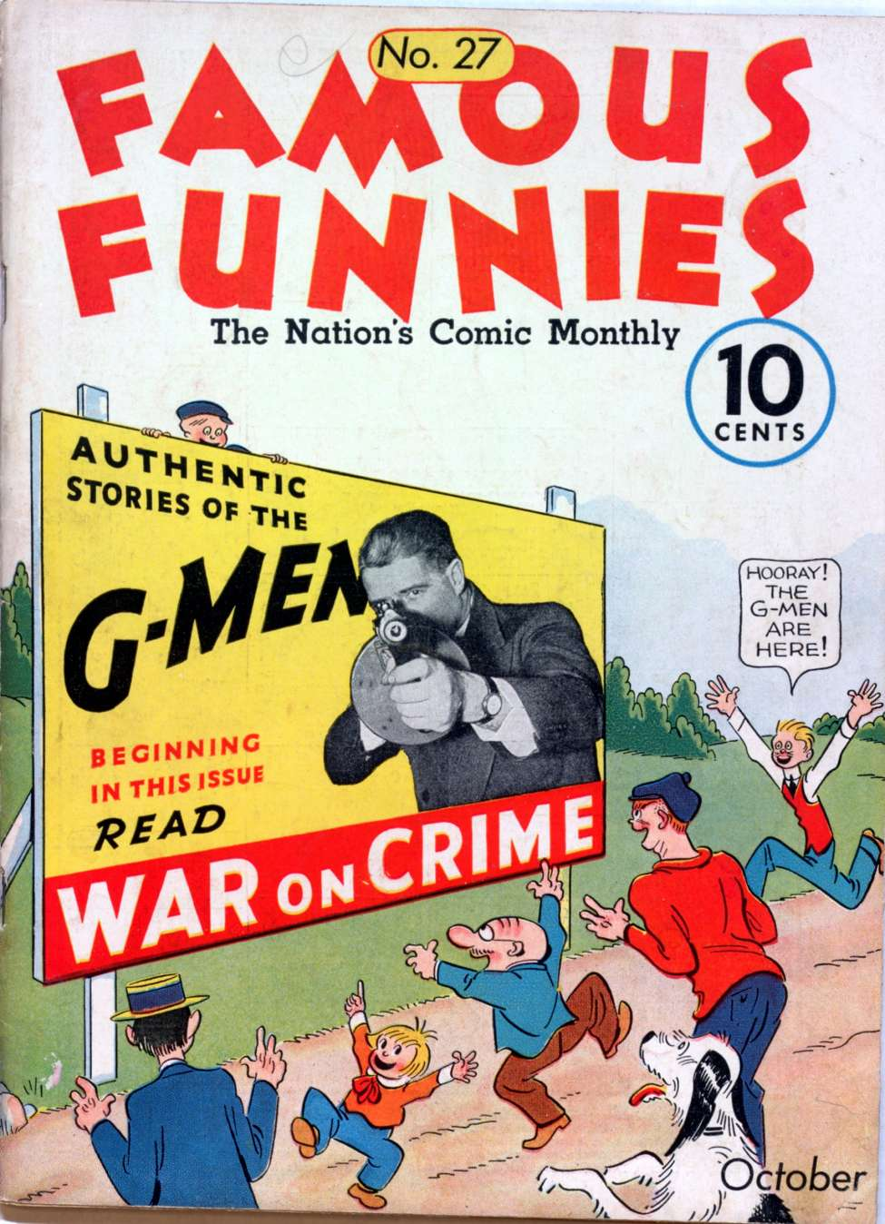Comic Book Cover For Famous Funnies #27