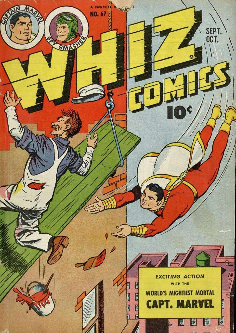 Comic Book Cover For Capt. Marvel Whiz Archives Vol 15