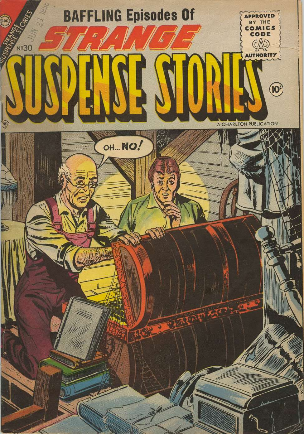 Comic Book Cover For Strange Suspense Stories #30