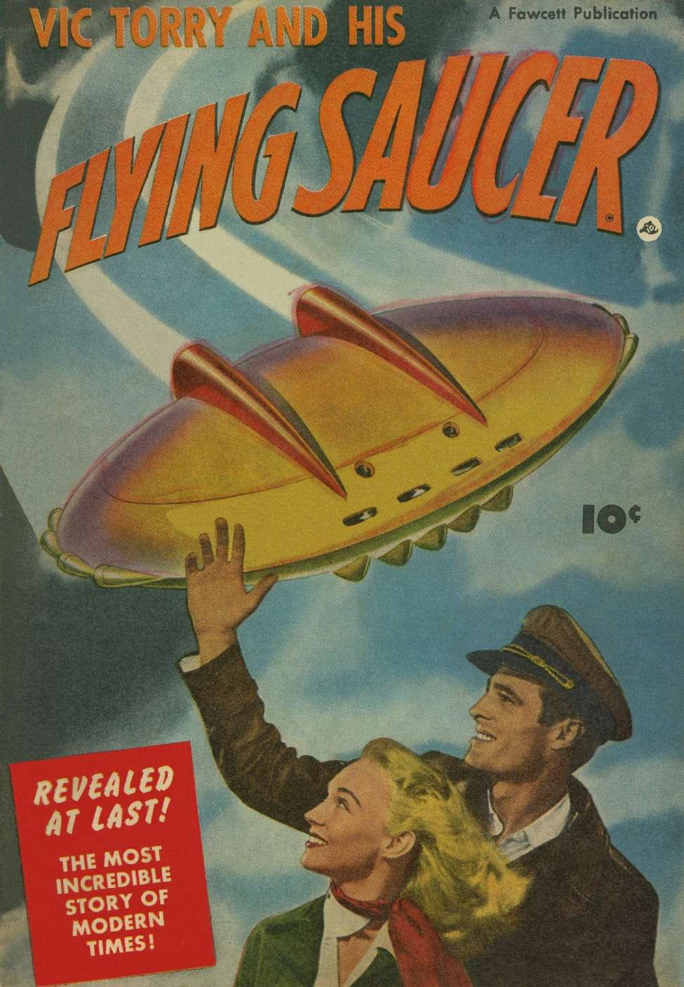 Comic Book Cover For Vic Torry And His Flying Saucer