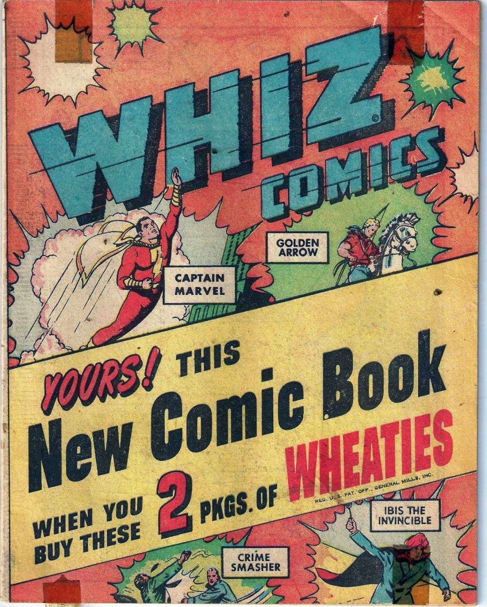 Comic Book Cover For Whiz Comics [Wheaties Miniature Edition] [nn]